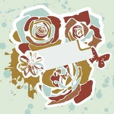Free Floral Postcard Royalty Free Stock Images - 20026619