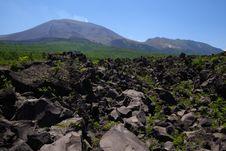 Free Lava And Mt. Asama Royalty Free Stock Image - 20026706