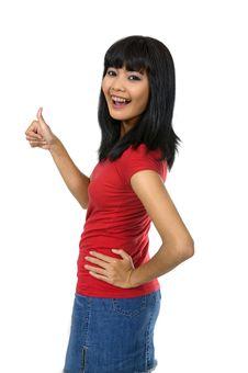 Free Woman Give Thumb Stock Photos - 20026823