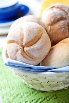 Free Fresh Bread Rolls In A Breadbasket Stock Photos - 20027263