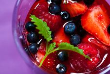 Free Berry Jelly In A Glass Royalty Free Stock Photo - 20027435