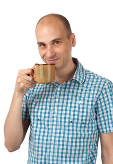 Free Young Man Drinking Coffee Stock Photography - 20027532