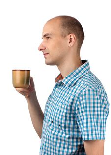 Free Young Man Drinking Coffee Stock Photos - 20027543