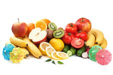 Free Fresh Fruits And Vegetables Royalty Free Stock Images - 20027909