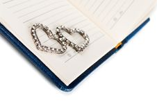 Heart On A Notebook Page Stock Images