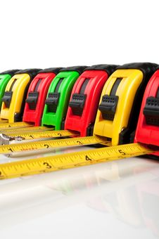 Free Many Tape Measure Royalty Free Stock Images - 20028099