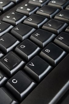 Free Black Computer Keyboard Royalty Free Stock Photo - 20028295