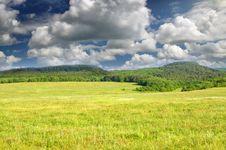 Free Big Green Meadow. Royalty Free Stock Photos - 20028578