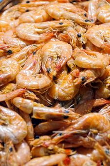 Free Cooked Shrimps Royalty Free Stock Photos - 20028798