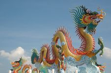 Free Chinese Dragon Statue Royalty Free Stock Photography - 20029147