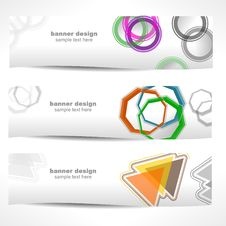 Modern Banner Set No.1. Royalty Free Stock Photo