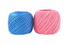 Blue And Pink Thread Ball Isolated Royalty Free Stock Images
