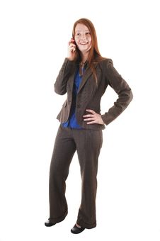 Free Young Woman On Cell Phone. Stock Images - 20029784