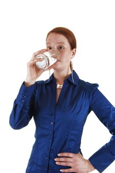Free Girl Drinking Water. Stock Photos - 20029823