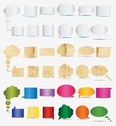 Free Paper, White And Color Dialogs Icons Stock Photos - 20029843