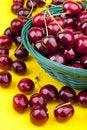 Free Fresh Picked Organic Cherries Stock Photo - 20037310