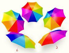Free Rainbow Umbrella Stock Image - 20030411