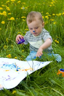 Free Childlike Painting Royalty Free Stock Photos - 20030768