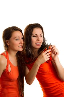 Free Haircut Two Friends Stock Image - 20030961