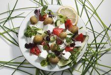Free Greek Salad Royalty Free Stock Photos - 20031928