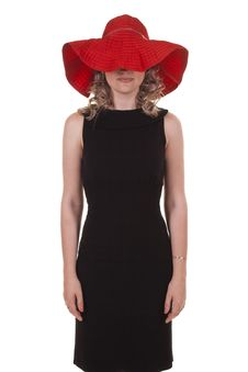 Free Woman With A Red Hat Stock Photo - 20032210