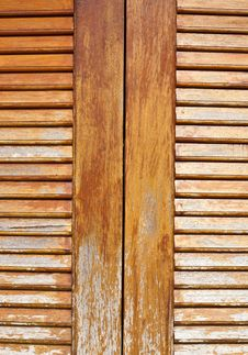 Free Wooden Louver Windows Background Royalty Free Stock Image - 20032256