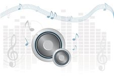 Free Music In Blue Stock Photo - 20032790