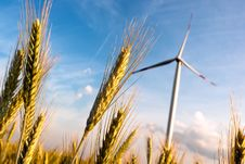 A Wind Turbine On The Field Stock Photography