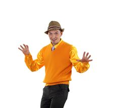 Free Young Happy Man In Bright Colour Wear Stock Photography - 20033512