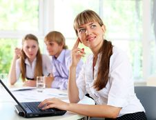Free Business Woman In Office Royalty Free Stock Image - 20033556