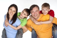 Free Nice Family Of A Four Stock Image - 20033691