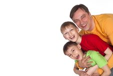 Free Dad And Two Sons Royalty Free Stock Photo - 20033705