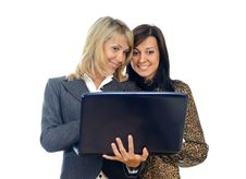 Free Women With A Laptop Stock Photo - 20033770