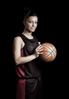 Free Female Basketball Royalty Free Stock Images - 20033939