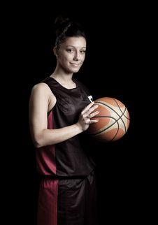 Free Female Basketball Royalty Free Stock Images - 20033939