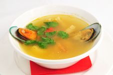 Free Soup From Seafoode Stock Images - 20034734