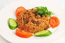 Free Pilaf With Vegetables Royalty Free Stock Image - 20034746