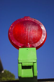 Free Red Road Work Light Stock Image - 20035101
