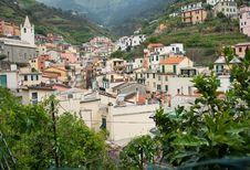 Free Italian Valley Town Of Riomaggiore. Stock Photography - 20035452