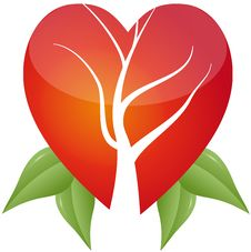 Free Tree In Heart With Leafs Stock Photo - 20036180