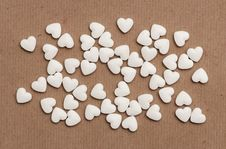 Free White Pills In The Form Of Heart Stock Images - 20036274