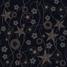 Free Abstract Flowers - Seamless Pattern Stock Image - 20036991