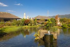 Free View On Japanese Pond Royalty Free Stock Image - 20037016