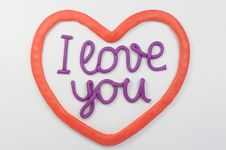 Free Plasticine Lettering I Love You Stock Photos - 20037163