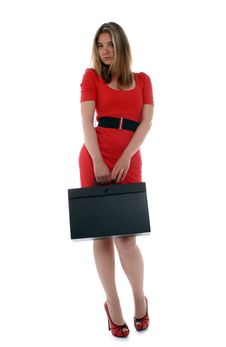 Free Business Woman Holding Briefcase Stock Photography - 20037892