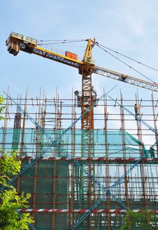 Cranes On Site Stock Images