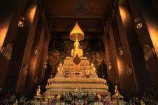 Free Wat Pho Buddist Monk Statue Stock Photography - 20038642