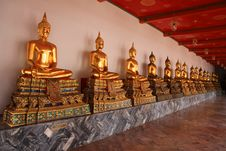 Free Monk Statues At Wat Pho Royalty Free Stock Image - 20038676