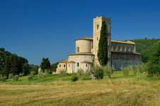 The Abbey Of Sant Antimo Stock Photos