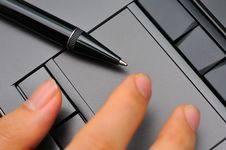 Free Fingers On Touch Pad Royalty Free Stock Images - 20038959